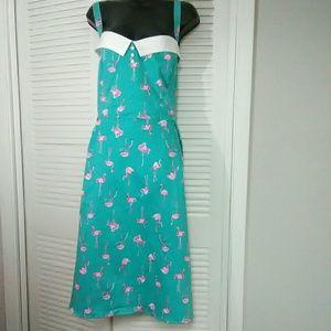 Torrid Retro Chic plus sz 24 flamingo print dress